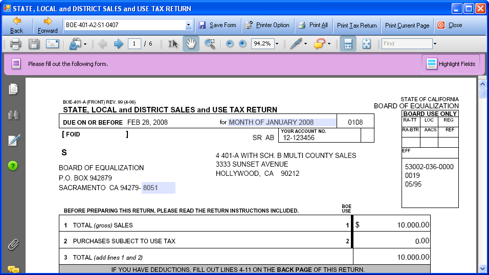 Sales Tax Preparation Worksheet – Tax Preparation Worksheet